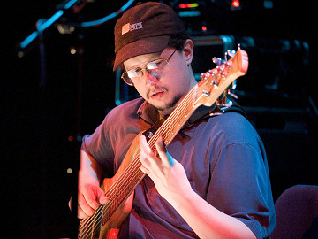 Dave at Solo Bass Night II - photo by Mike Peyzner Photography