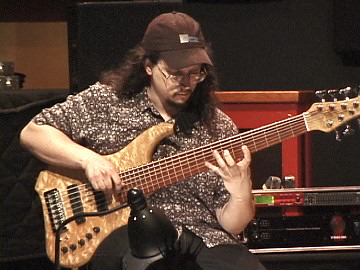 Dave at Solo Bass Night - video by Greg Linhares